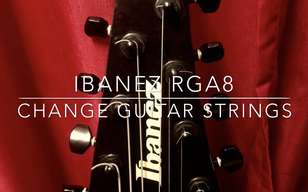 Change guitar 8 strings